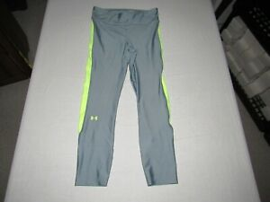 "Under Armour Women's Heat Gear Gray Compression Pants Size M Waist 27""-29"""