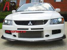 For 03-05 Mitsubishi Evolution EVO VIII 8 Carbon Front Bumper Lip RA Style