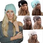 Fashion Women Winter Warm Beret Braided Baggy Knit Crochet Beanie Hat Ski Cap