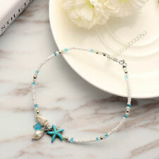 Sexy Women Starfish Shell Beach Foot Chain Conch Sandal Anklets Beads Bracelet