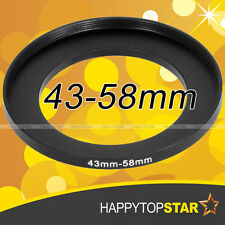 43mm to 58mm 43-58 mm Male- Female Coupling Step-Up Lens Filter CPL Ring Adaptor