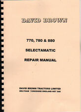 David Brown 770, 780 and 880 Selectamatic Traktor Reparatur Manuelle