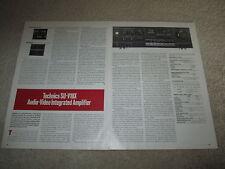 Technics SU-V10x Amplifier Review, 3 pgs, 1986, Info