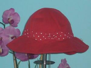 Gymboree New Red Polk-A-Dot Bow Sun Hat 12-24 Months