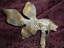 Large Stunning Cast Bronze ( NOT Resin)  Statuary of  Fish