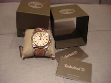 TIMBERLAND CAMPTON BROWN LEATHER STRAP WATCH 14642JS07- BRAND NEW - NWT