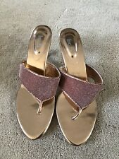 Ladies Rose Gold / Pink Indian Style Sandals UK Size 5 - Brand New!