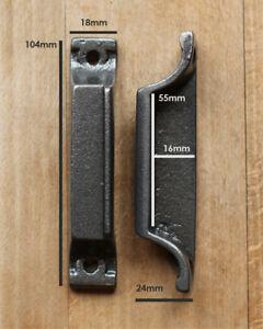 CAST IRON RIM LOCK DOOR KEEP 104mm ~ BRITISH MADE VICTORIAN RIMLOCK KEEPS ~ KP12