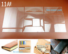 10pc Leather Craft Acrylic Perspex Long WalletPattern Stencil Template Tool Set