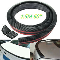 4.9ft/1.5M Universal Carbon Fiber Soft Styling  Car Rear Roof Trunk Spoiler Wing