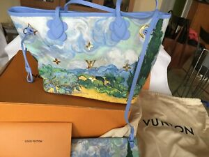 LOUIS VUITTON Jeff Koons Van Gogh Neverfull MM Shoulder Bag BRAND NEW