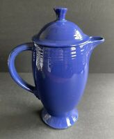 Vintage Cobalt Blue Fiesta Coffee Server and Lid Fiestaware Pitcher