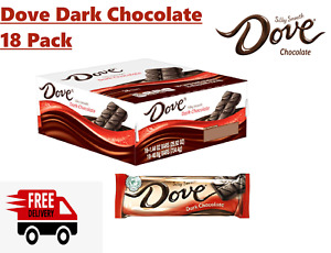 Dove Dark Chocolate Singles Size Candy Bar 1.44-Ounce Bar 18-Count Box Bulk