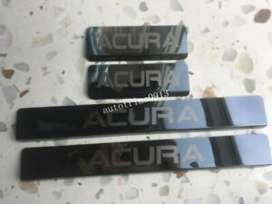 Black Stainless Steel Outer Door Sill Scuff Plate Guards For Acura RDX 2019-2021