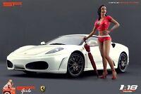 1:18 Ferrari girl figurine VERY RARE !! for diecast collectors