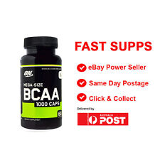 Optimum Nutrition BCAA 1000 caps Amino Acids  60 capsules FREE POST