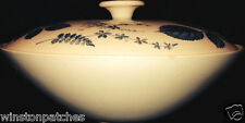RIDGWAY ENGLAND STAFFORDSHIRE WOODSIDE BLUE ROUND COVERED VEGETABLE BOWL & LID