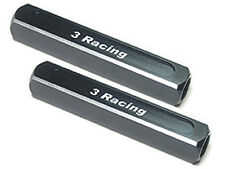 3Racing ST-003/BL 13mm Chassis Droop Gauge Blocks (2 Pcs) - Black