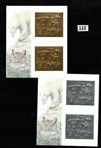 // GUYANA - MNH - GOLD+SILVER - BUTTERFLIES, INSECTS, BEARS, OWL
