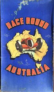 Race Around Australia Board Game 1950's G. N. Raymond Boxed Complete