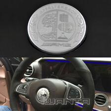 Car 3D AMG Emblem Steering Wheel Cover Decor Sticker For Benz B/C Class W205 GLC