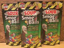 TOXIC WASTE 3 BAGS OF SOUR SMOG BALLS-HAZARDOUSLY SOUR CANDY-FREE SHIPPING