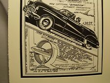 1948 Buick Roadmaster       Auto Pen Ink Hand Drawn  Poster Automotive Museum