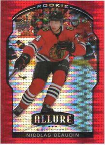 20-21 2020-21 UD Allure Nicolas Beaudin RED RAINBOW ROOKIE #79-Blackhawks
