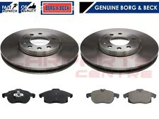 FOR VAUXHALL VECTRA 1.9 CDTi SRi 04-09 FRONT BRAKE DISCS PADS BORG & BECK