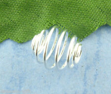 120Pcs Silver Plated Spiral Bead Cages 8x9mm