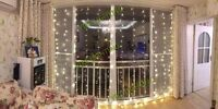 3 X 3M LED Home Christmas Decorative Wedding Fairy Curtain Garlands Party Lights