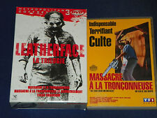 DVD - Leatherface - La Trilogie : Massacre à la tronçonneuse 3 dvd+l'original