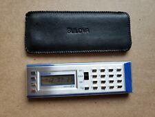 Vintage Bulova Calculator / Clock B6930 w/ Case - LCD Quartz Alarm