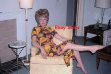 #AP n Amateur 35mm Slide-Photo- Woman With High Hair Relaxing 1973