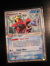 EX Pokemon CRAWDAUNT EX Card HOLON PHANTOMS Set 99/110 Ultra Rare Holo TCG