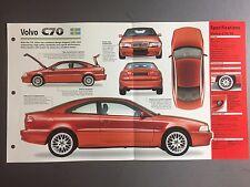 "1997 > VOLVO C70 IMP ""Hot Cars"" Spec Sheet Folder Brochure #2-39"
