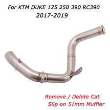For KTM DUKE 125 250 390 RC390 Mid Link Pipe No Cat Slip on 51MM Exhaust Pipe