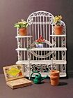 Dolls House White Metal Furniture Garden/conservatory -  Display  Shelves  Plus