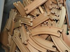 Lot of 20 Pcs Almost 2 Lbs Wooden Thomas the Tank Engine Wood Track USED