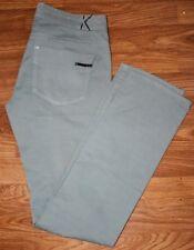 KARL LAGERFELD gray cotton blend pants sz 28 5 pockets casual