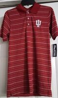 New Mens Knights Apparel Pro Edge Collegiate Indiana Hoosiers Polo Shirt Small
