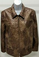 Alfred Dunner Women's Multi-Color Animal Print Long Sleeve Jacket Size: 12P