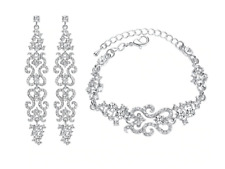 Luxury Bridal Jewelry Sets with Crystal Fashion