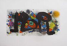Joan Miro SCULPTURE PLATE 1 Lithograph w/ COA Mint Condition Art