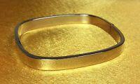 Vintage 925 Sterling Silver Hinged Cuff Bracelet Fine Jewelry