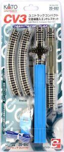 Kato N Scale UniTrack ~ New 2021 ~ CV3 Compact Semi Circle Crossing Set ~ 20-892