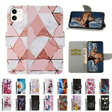 For iPhone 7/8 11 Pro Max Cat Butterfly Pattern Magnetic Stand Wallet Case Cover