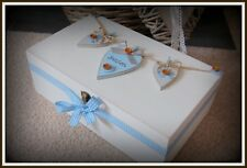 New Baby Boy Keepsake Box Wooden Christening Memory Box PERSONALISED Nursery