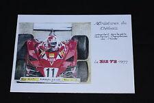 GL Miniatures château Carte postal Ferrari 312 T2 1977 F1 Heco certificat