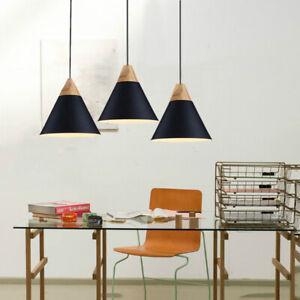 3X Black Pendant Lighting Wood Ceiling Lamp Home Chandelier Lights Modern Light